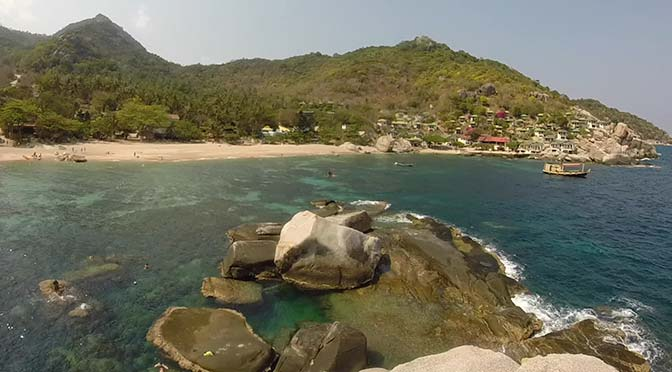 View of Koh Tao from cliff jumping spot