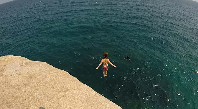 laura cliff jump koh tao