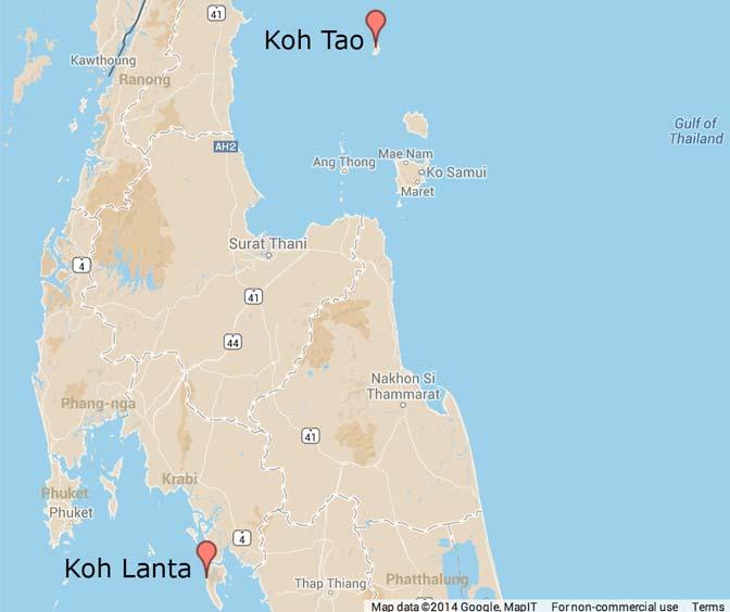 Thailand, Koh Tao and Koh Lanta