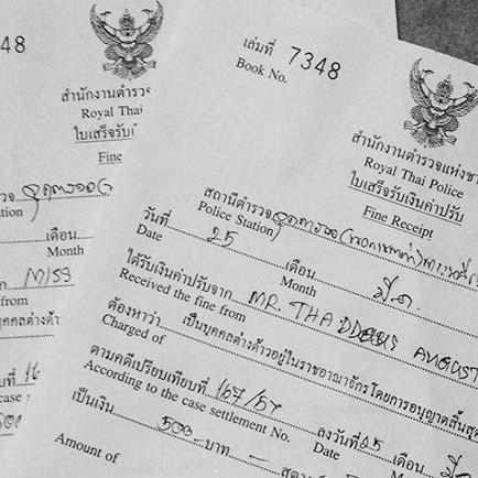 thailand paperwork