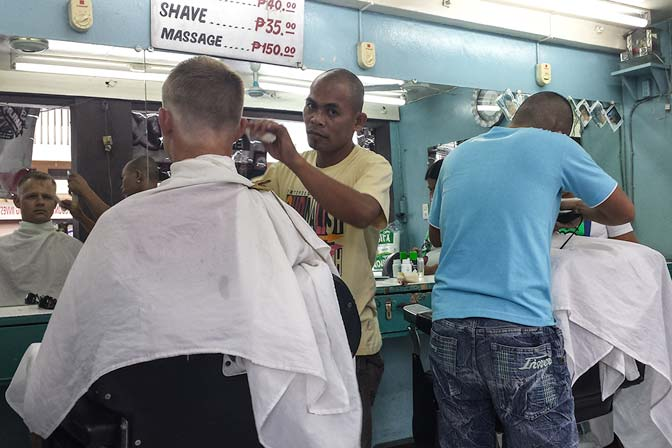Philippines haircut