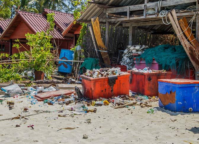 Garbage area Koh Lipe, Thailand