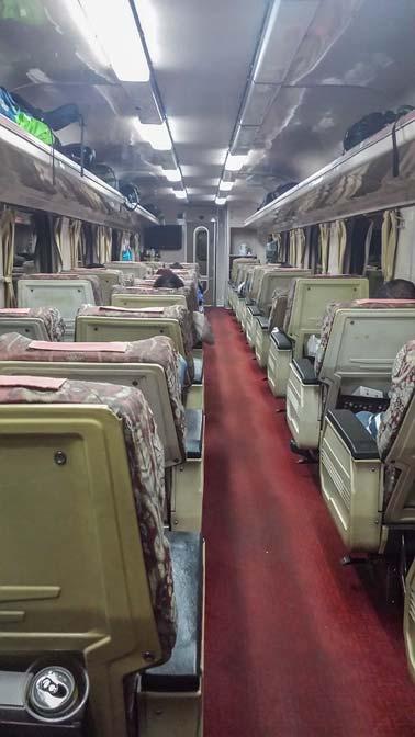 Overnight train to Singapore.