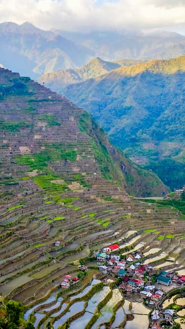 Incredible rice terrace views.