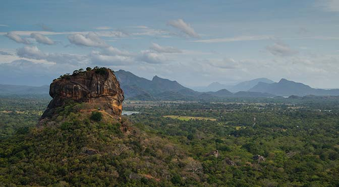 view of Sigiriya rock