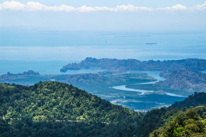 View from the highest point in Langkawi.