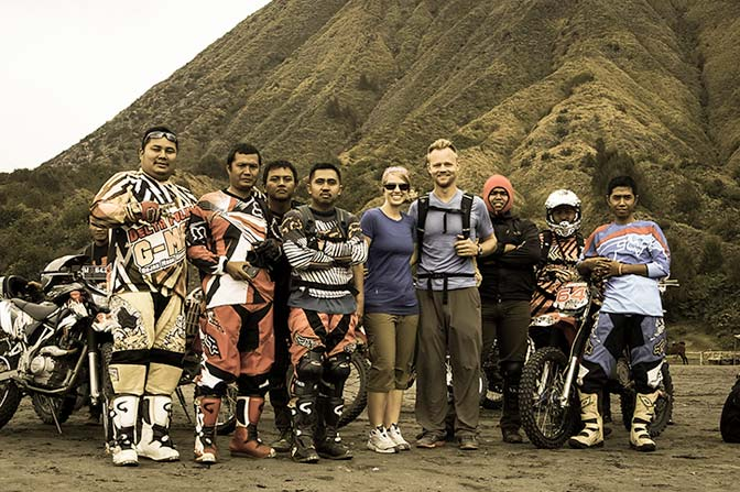One of the photos we were asked to be in during our Mt. Bromo hike.