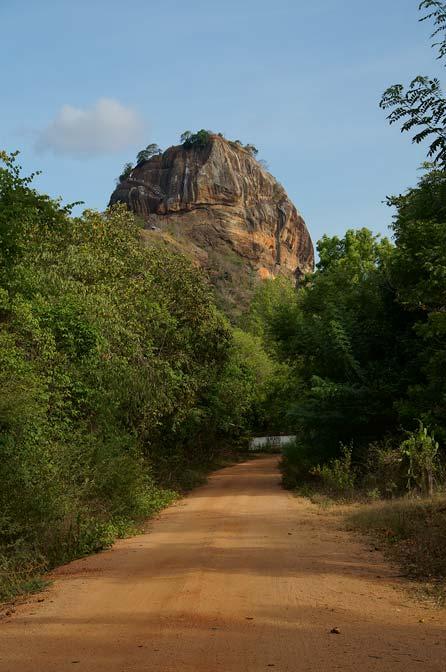 Sigiriya rock from the road.