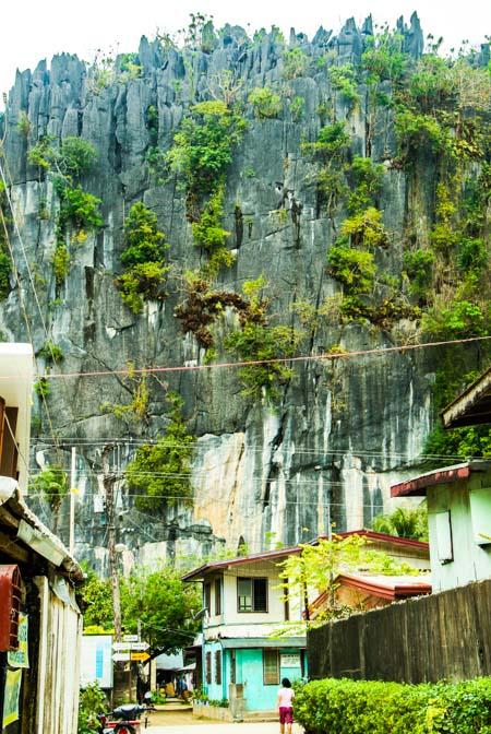 Limestone cliffs surrounding El Nido, Palawan.