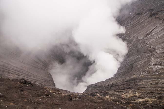 Mt. Bromo's opening.
