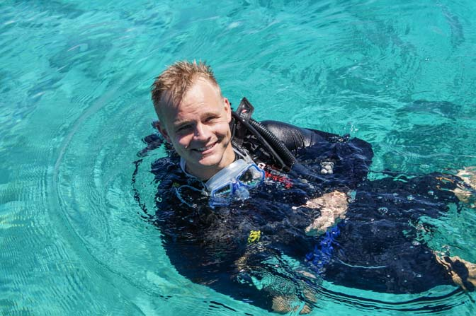 Happy face after diving Sipadan.