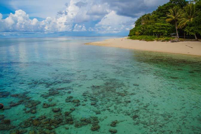 On Sipadan Island, relaxing between dives.