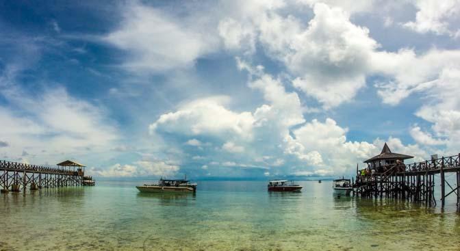 Beautiful Sipadan Island, with amazing diving.