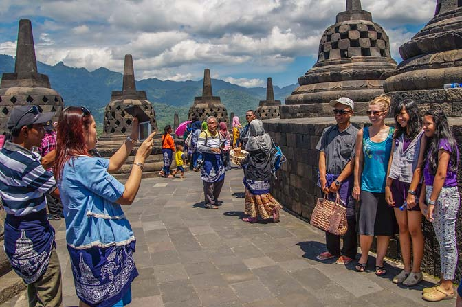 One of the fifty pictures we were asked to be in at the Borobudur temple.