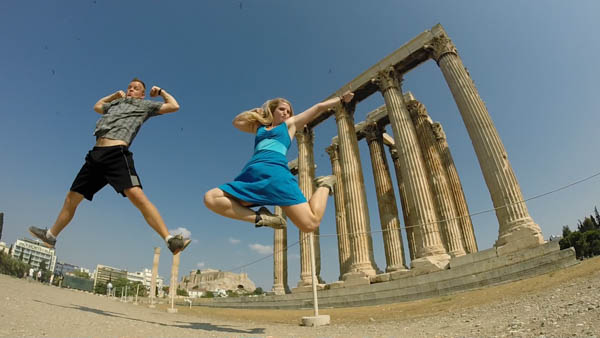 Jump shot at the Temple of Zeus